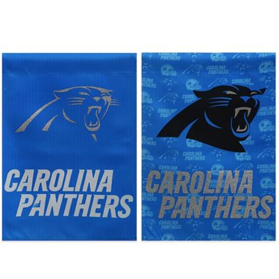 NFL Carolina Panthers Double-Sided Vertical Glitter Flag