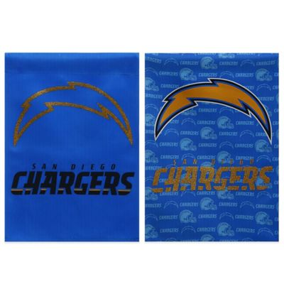 NFL San Diego Chargers Double-Sided Vertical Glitter Flag