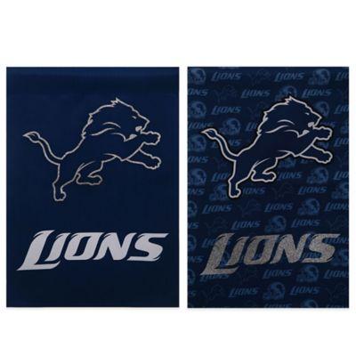 NFL Detroit Lions Double-Sided Vertical Glitter Flag