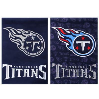NFL Tennessee Titans Double-Sided Vertical Glitter Flag