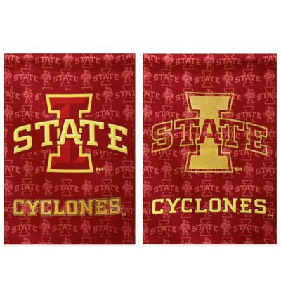 Iowa State University Double-Sided Vertical Glitter Flag
