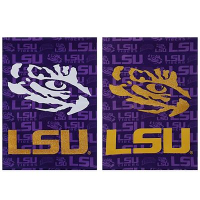LSU Double-Sided Vertical Glitter Flag