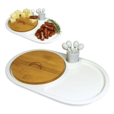 Picnic Time® NFL San Diego Chargers Eclipse Appetizer Serving Set