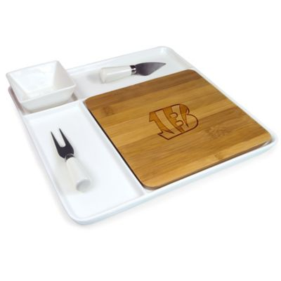 Picnic Time® NFL Cincinnati Bengals Peninsula Serving Set