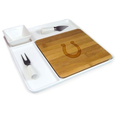 Picnic Time® NFL Indianapolis Colts Peninsula Serving Set