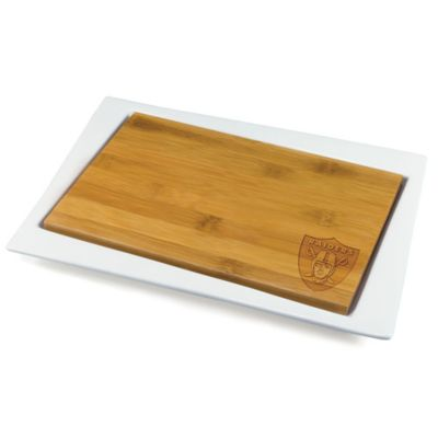 Picnic Time® NFL Oakland Raiders Enigma Offset Cutting Board and Serving Tray