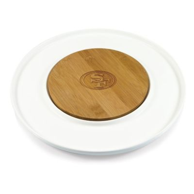 Picnic Time® NFL San Francisco 49ers Island Cutting Board and Tray Set