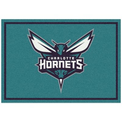 NBA Charlotte Hornets Spirit 5-Foot 4-Inch x 7-Foot 8-Inch Rug