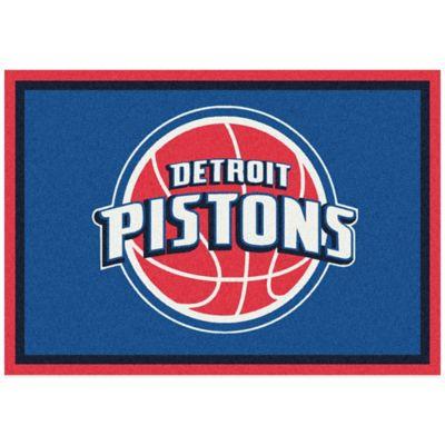 NBA Detroit Pistons Spirit 5-Foot 4-Inch x 7-Foot 8-Inch Rug
