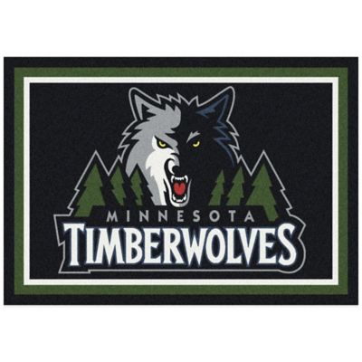 NBA Minnesota Timberwolves Spirit 5-Foot 4-Inch x 7-Foot 8-Inch Rug