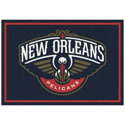 NBA New Orleans Pelicans Spirit 5-Foot 4-Inch x 7-Foot 8-Inch Rug