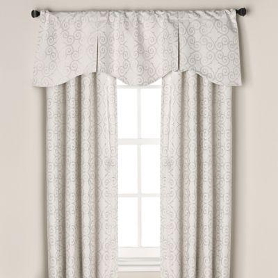 Captiva Pleated Window Curtain Valance in White