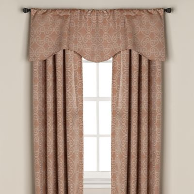 Captiva Rod Pocket/Back Tab 63-Inch Window Curtain Panel in Linen