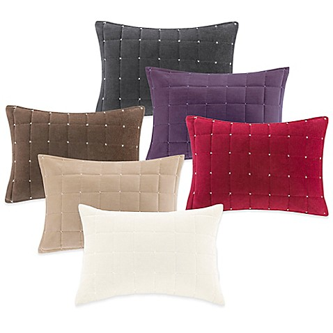 Bed Bath And Beyond Red Throw Pillows : Buy Quilted Velvet Oblong Throw Pillow from Bed Bath & Beyond