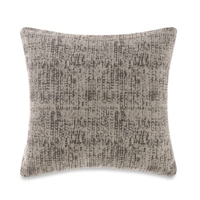 Kenneth Cole Reaction Home Cement Square Throw Pillow in Grey