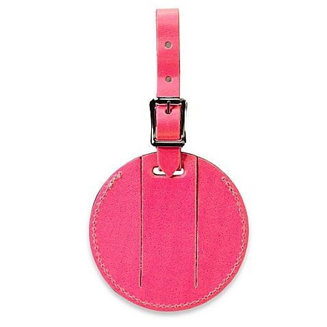 Neon Security Bonded Leather Id Luggage Tag