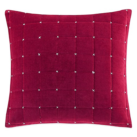 Buy Quilted Velvet Square Throw Pillow from Bed Bath & Beyond