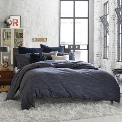 Kenneth Cole Reaction Home Element Reversible Full/Queen Duvet Cover in Indigo