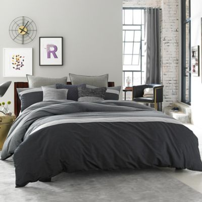 Kenneth Cole Reaction Home Fusion Twin Duvet Cover in Indigo