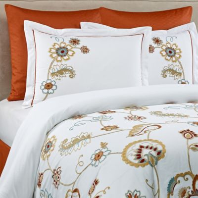 Bloomsfield European Pillow Sham in Rust