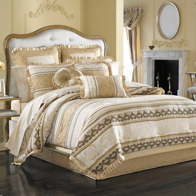 J. Queen New York™ Marcello Queen Comforter Set in Gold
