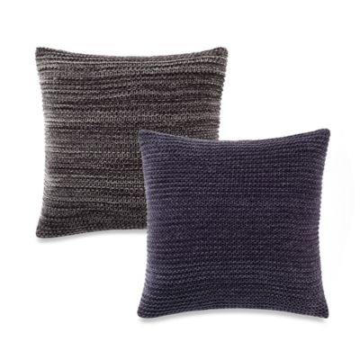 Kenneth Cole Reaction Home Mélange Knit Square Throw Pillow in Grey
