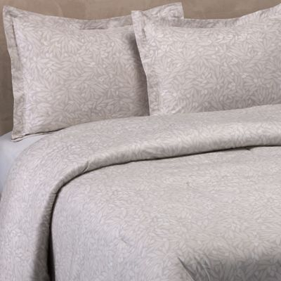 Vera Wang™ Bamboo Leaves King Comforter Set in Grey