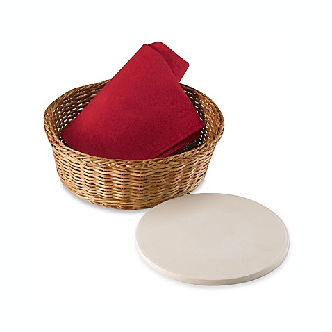 Bialetti Round Bread Basket with Warming Stone