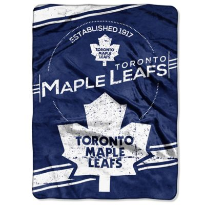 NHL Toronto Maple Leafs Stamp Raschel Oversized Throw Blanket