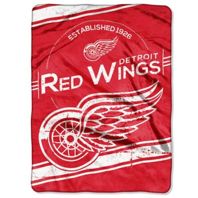 NHL Detroit Red Wings Stamp Raschel Oversized Throw Blanket