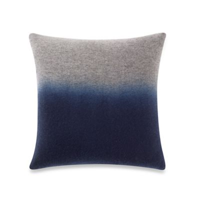 Kenneth Cole Reaction Home Element Ombre Square Throw Pillow in Navy