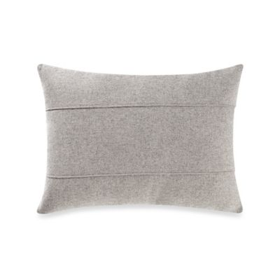 Kenneth Cole Reaction Home Element Seamed Oblong Throw Pillow in Grey