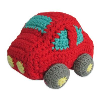 Little London by Albetta Car Crocheted Plush Toy in Red