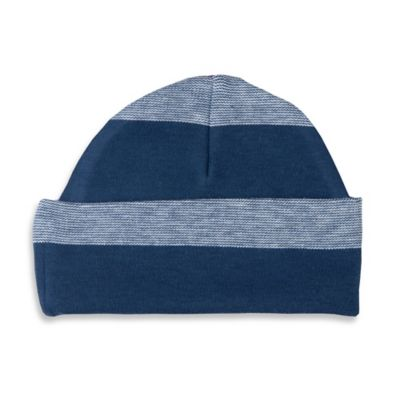 Sippy's Babes® Size 0-6M Striped Hat in Blue/Navy