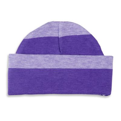Sippy's Babes® Size 0-6M Striped Hat in Lavender/Purple