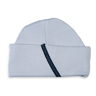 Sippy's Babes® Size 0-6M Hat in Blue with Navy Trim