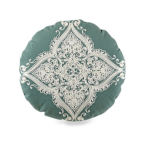 Buy Bloomsfield Round Throw Pillow in Blue from Bed Bath & Beyond
