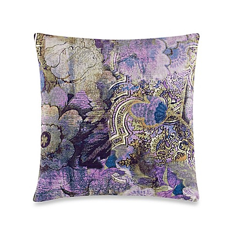 Buy Tracy Porter Poetic Wanderlust Kit Printed Velvet Square Throw Pillow in Purple from Bed ...