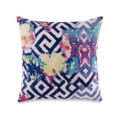 Tracy Porter® Poetic Wanderlust® Florabella Printed Velvet Square Throw Pillow in Teal