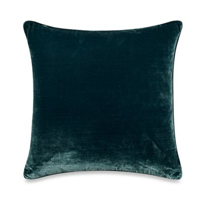Tracy Porter® Poetic Wanderlust® Florabella Solid Velvet Square Throw Pillow in Teal
