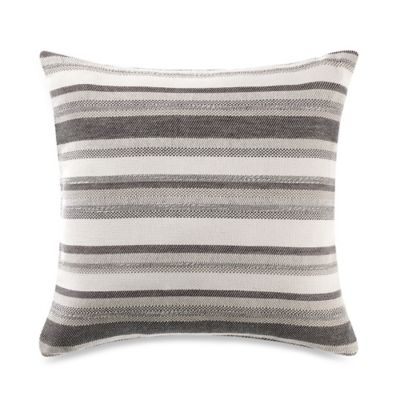 Kenneth Cole Reaction Home Element Square Throw Pillow in Grey Mist
