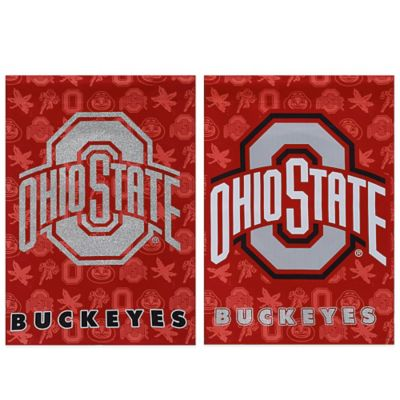 Ohio State University Double-Sided Vertical Glitter Flag