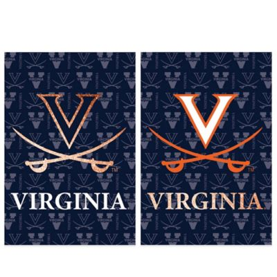 University of Virginia Double-Sided Vertical Glitter Flag