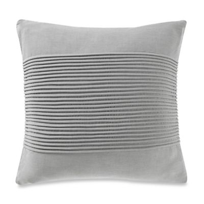 Kenneth Cole Reaction Home Fusion Corded Square Throw Pillow in Grey