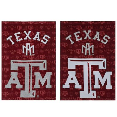 Texas A&M University Double-Sided Vertical Glitter Flag