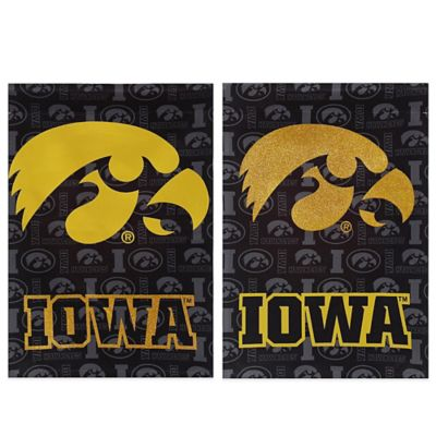 University of Iowa Double-Sided Vertical Glitter Flag