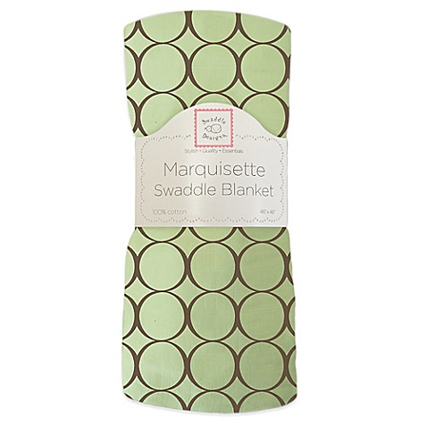 Swaddle Designs® Circles Lightweight Marquisette Swaddling Blanket in Green and Brown