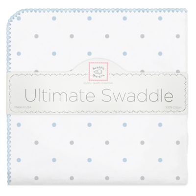 Swaddling Designs® Flannel Swaddling Blanket in Blue Dot