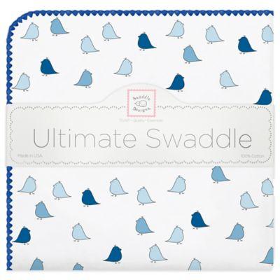 Swaddle Designs® Little Chickies Flannel Swaddling Blanket in Blue