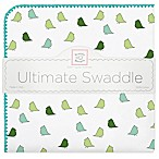 Swaddle Designs® Little Chickies Flannel Swaddling Blanket in Turquoise